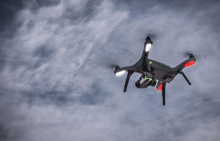 3DRobotics Solo Drone in Flight