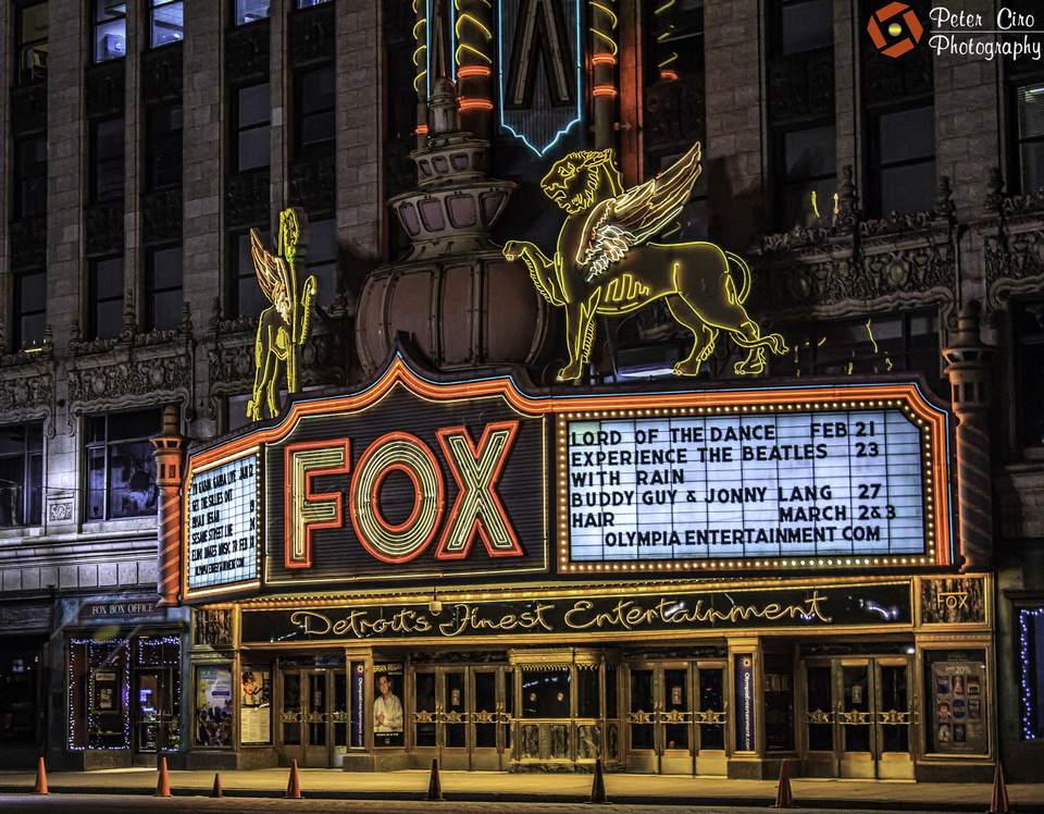 The Fox Theatre in Detroit