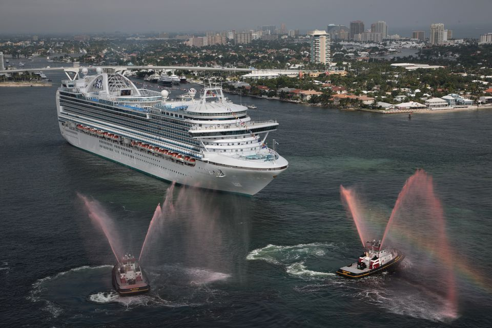 Many travelers choose a large ship like the Ruby Princess for their first cruise.