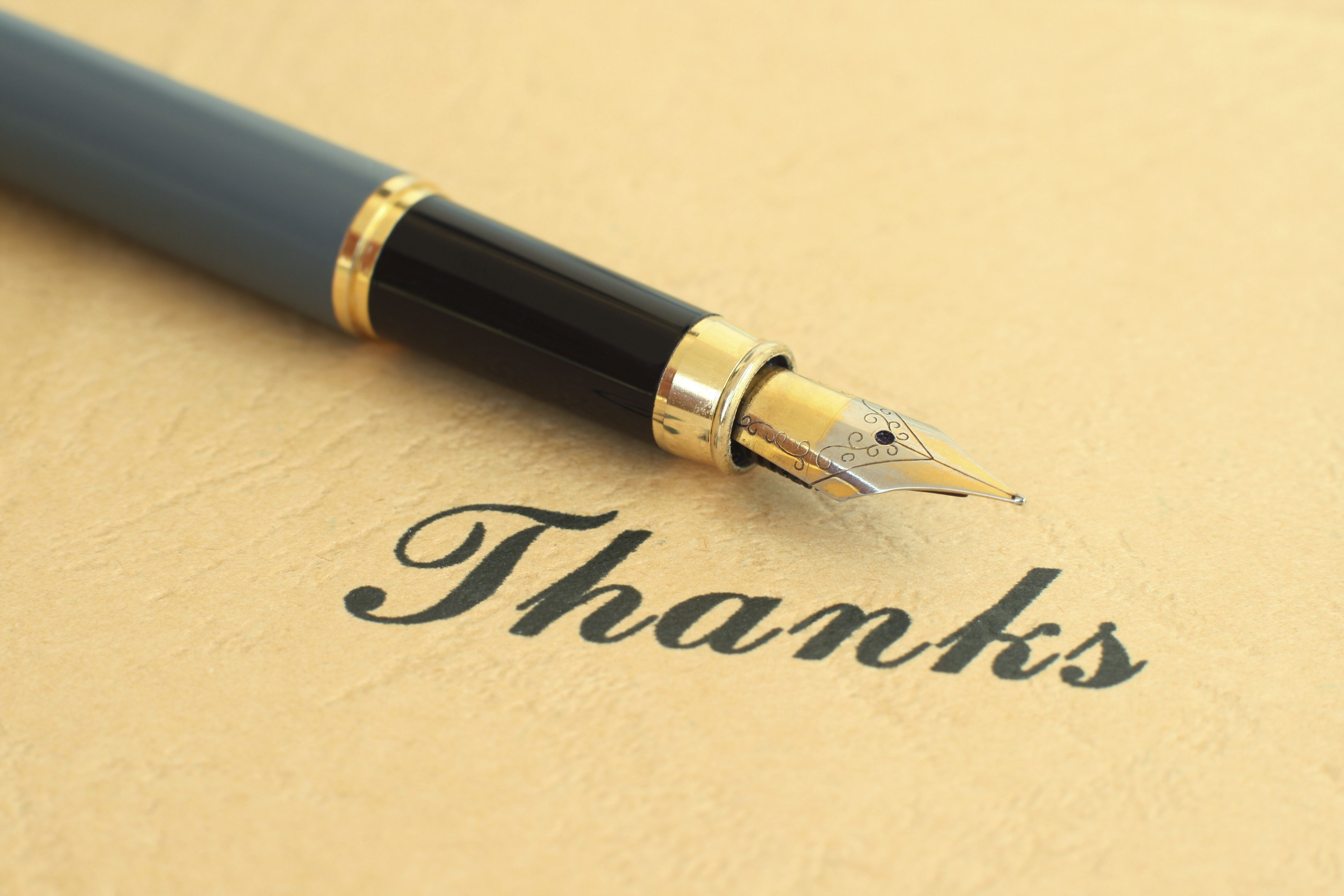 thank you letter closing examples