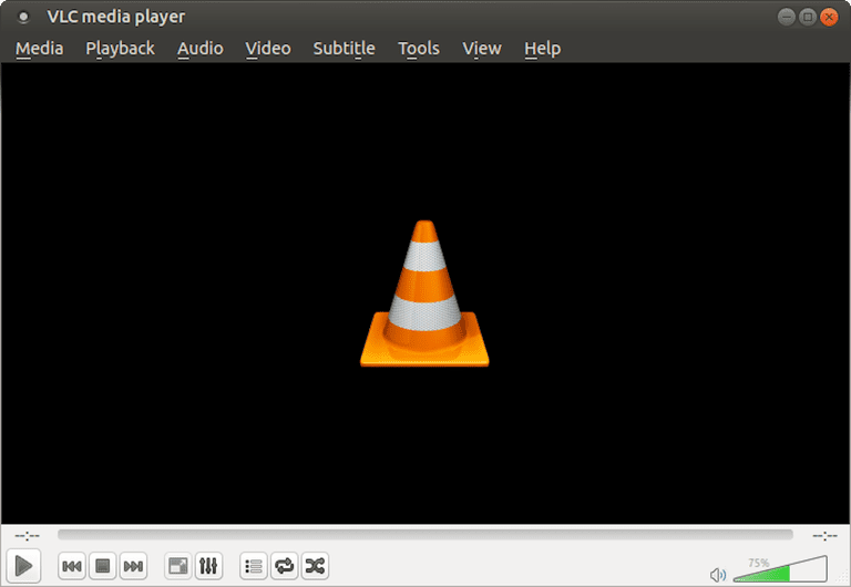 A screenshot of VLC Media Player 2.1.6 running under Ubuntu MATE