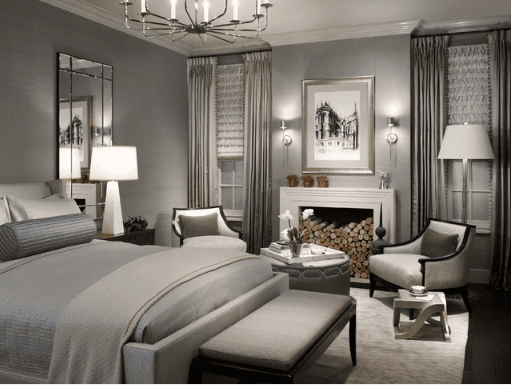 gorgeous gray bedroom - Grey And White Bedroom Design