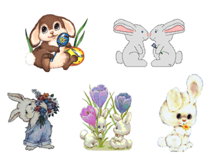 Screenshot Of Various Easter Bunny Clip Art