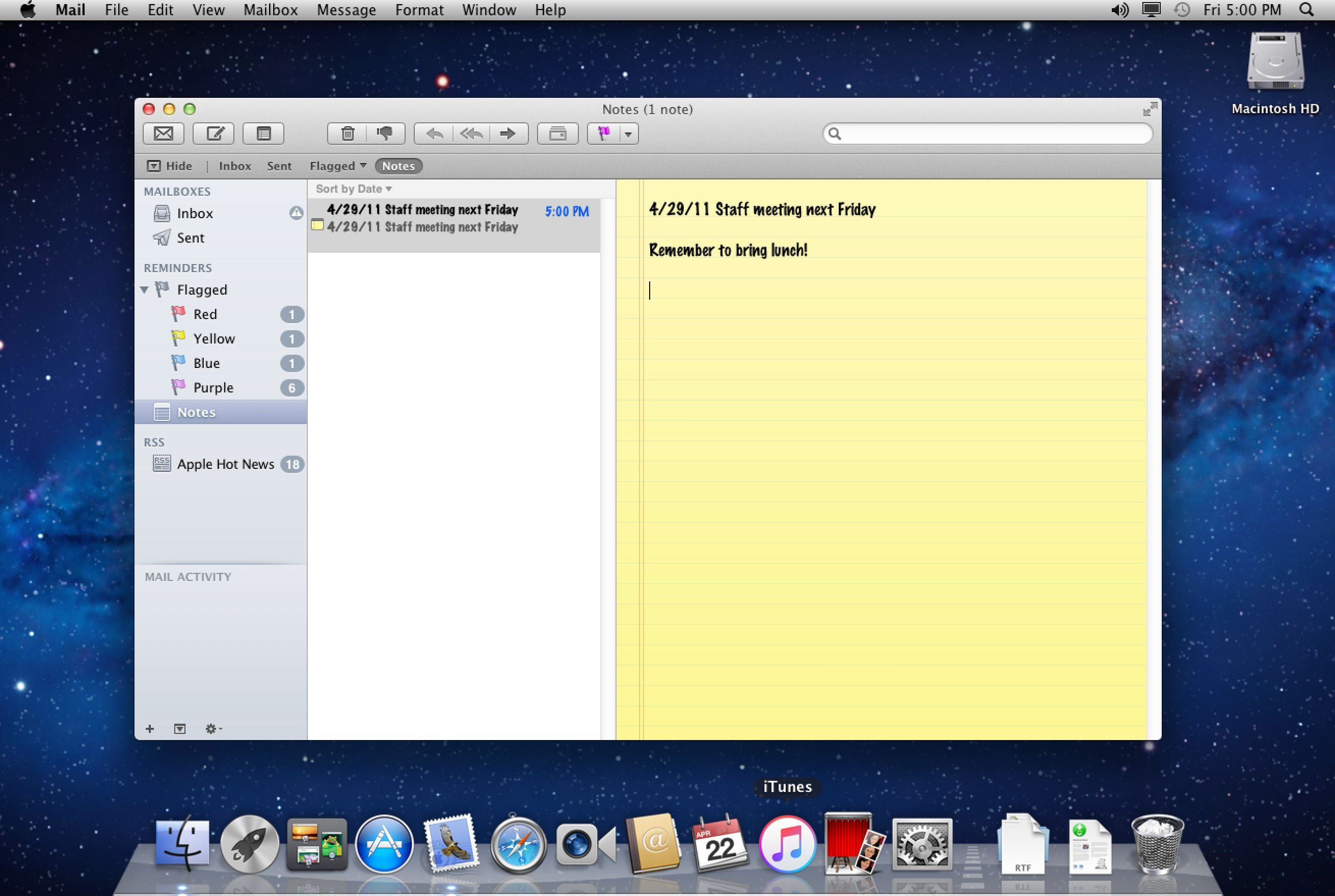 how to setup email on iphone create notes or to do reminders in apple mail 2620