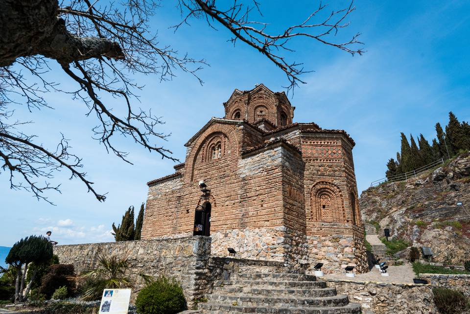 Church of St Johan at Kaneo on the Lake Ohrid in Macedonia