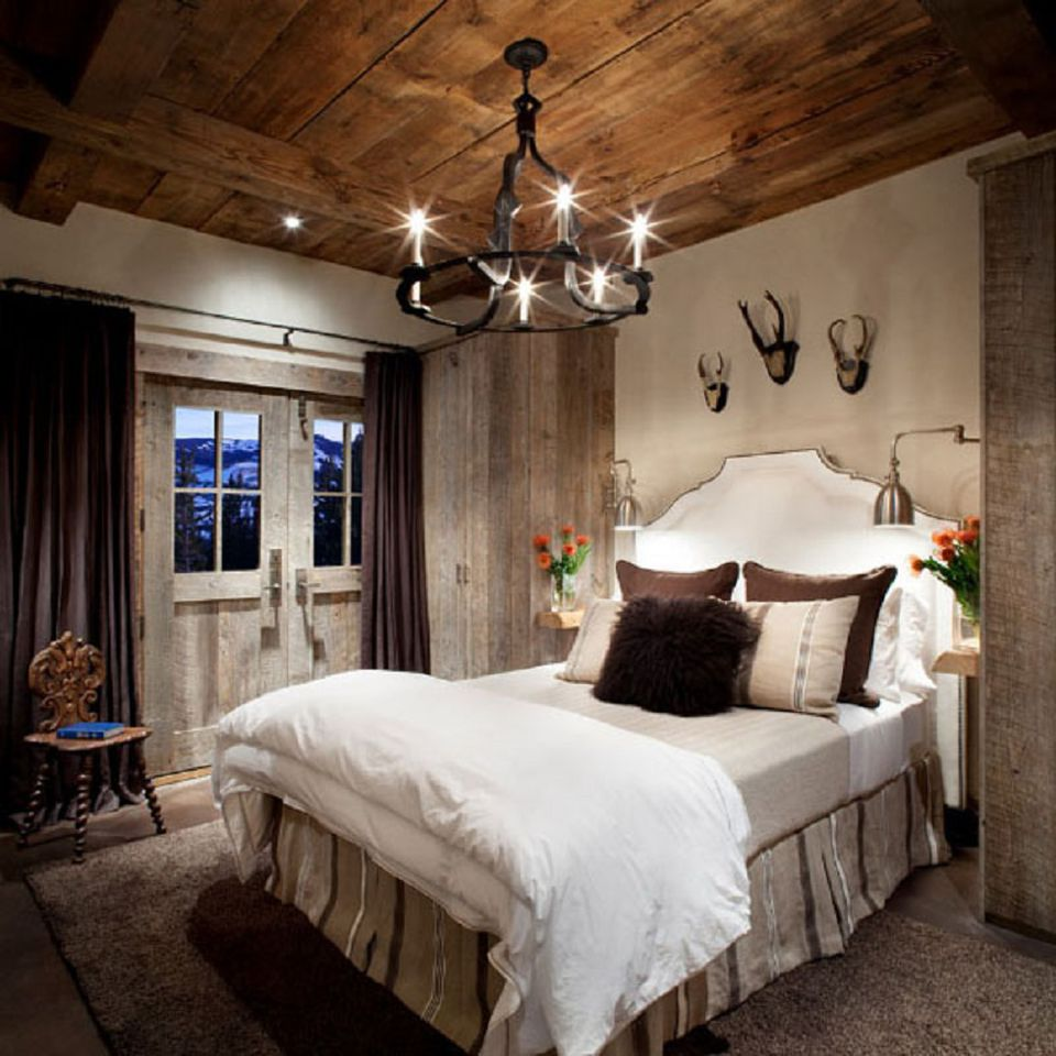 Romantic modern rustic bedroom.