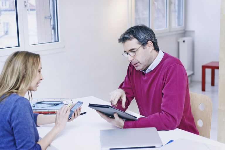 Woman making new appointment with her doctor