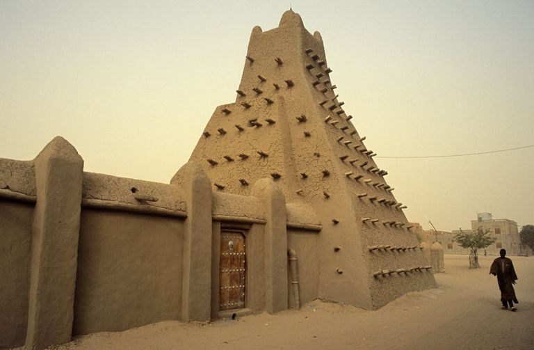 The Sankore Mosque in Timbuktu, where Mansa Musa established a university in the 14th century.