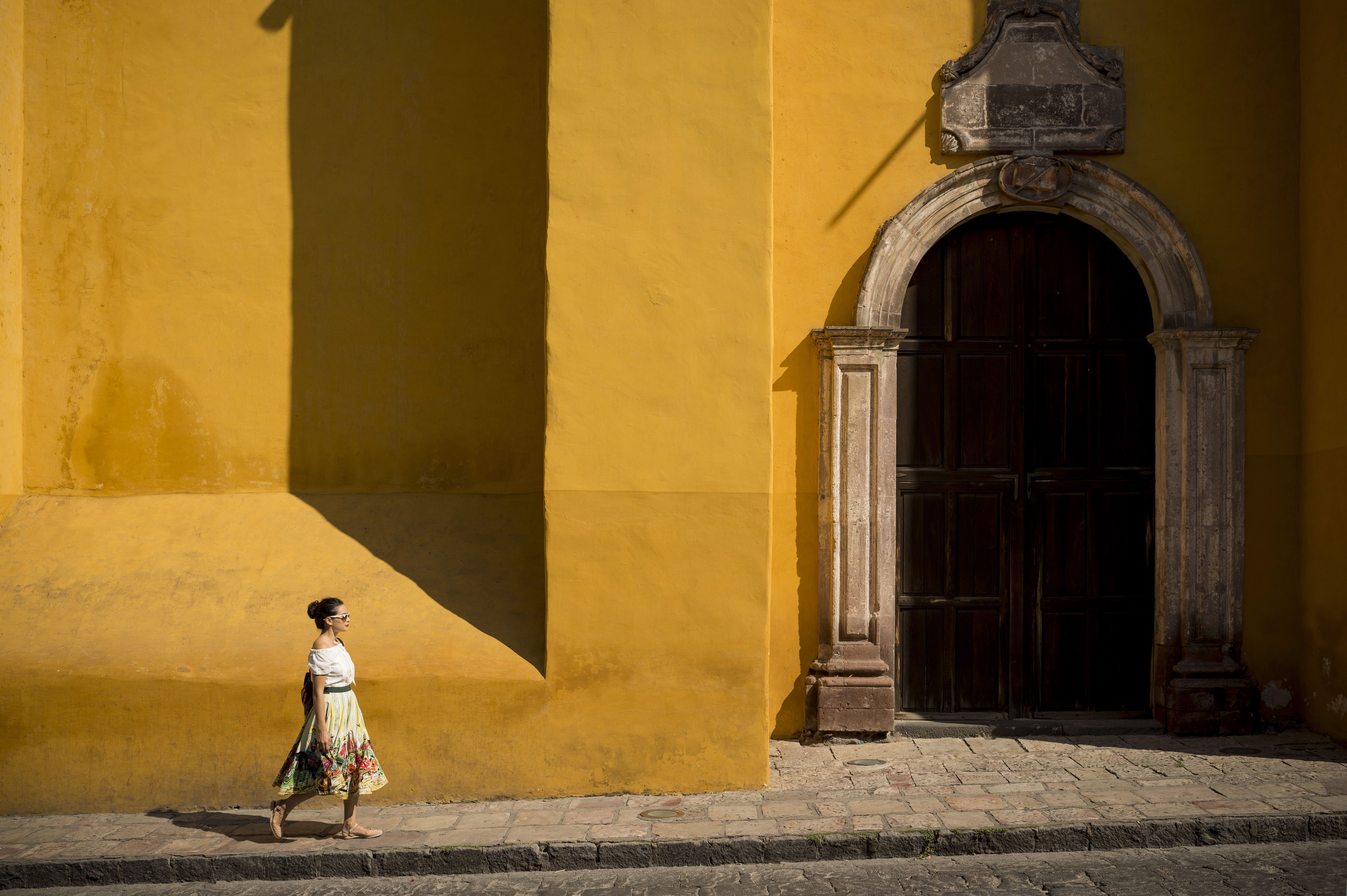 What documents do you need to travel to mexico woman walking along street san miguel de allende guanajuato mexico north america aiddatafo Image collections