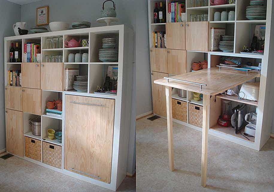 9 SpaceMaking Storage Hacks for Small Kitchens
