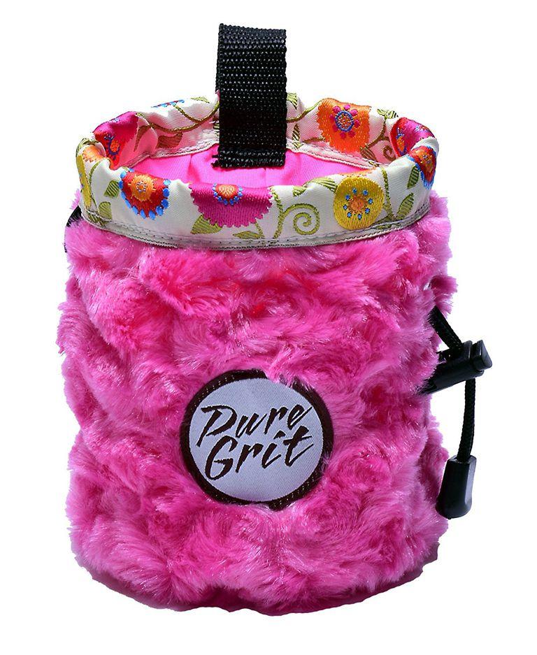 I LOVE Pink Chalk Bag