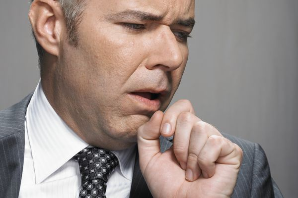 Man with a chronic cough.