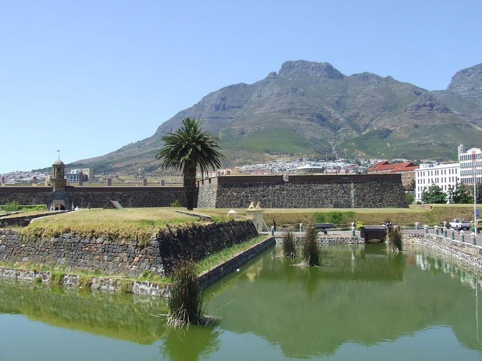 Castle of Good Hope Moat and Devil's Head in Cape Town