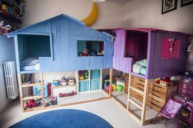 IKEA Kura Hack: Treehouse for two