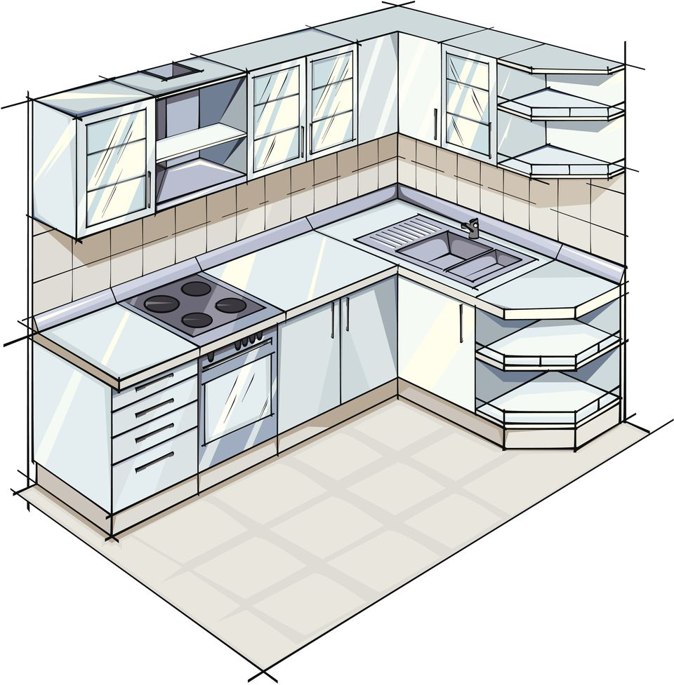 X L Shaped Kitchen Floor Plans No Refrigerator