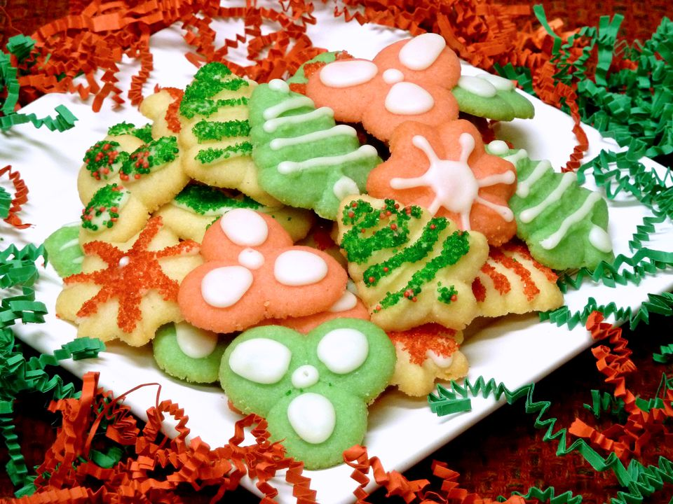 cookie press recipe, spritz cookies, cream cheese, holiday, christmas, receipts