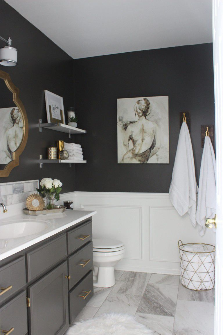 Sexy Gray Master Bathroom