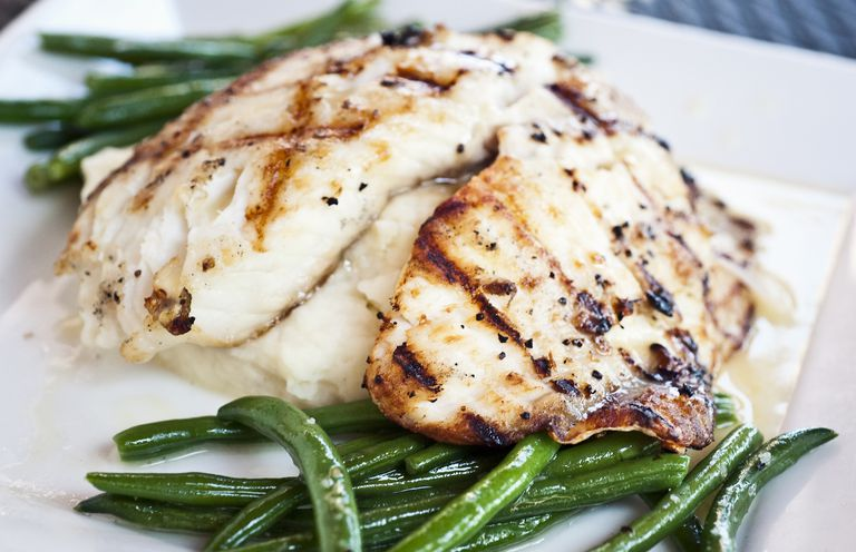 Grilled filet of fish