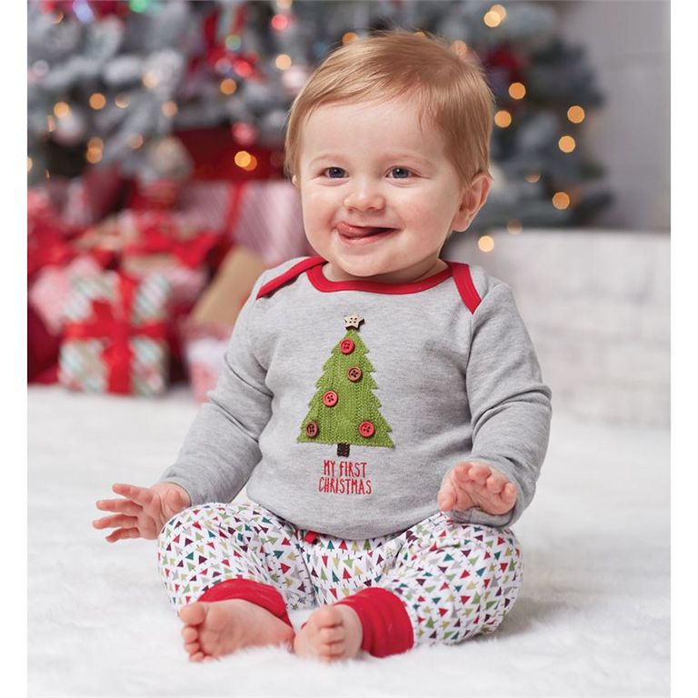 mud pie my first christmas tree two piece set