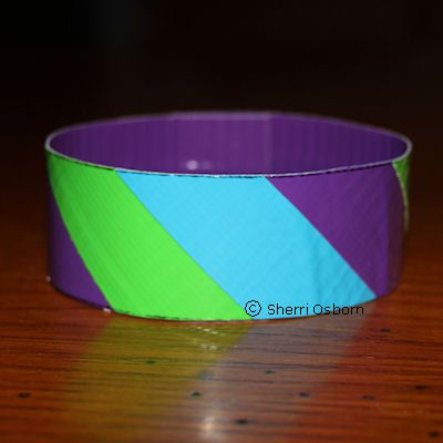 How To Make A Striped Duct Tape Bracelet