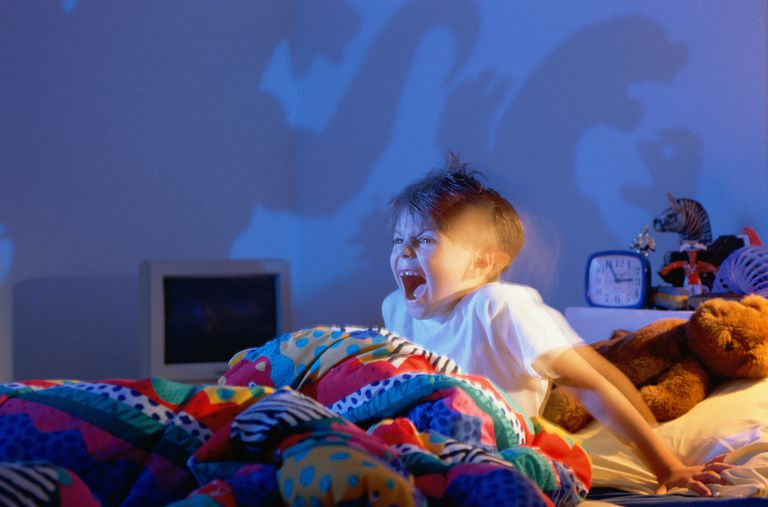 A boy screams during a sleep terror, but not sleep paralysis, which is a different condition with unique symptoms and signs