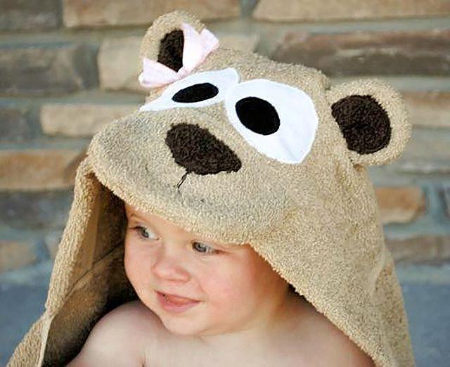DIY Teddy Bear Hooded Towel