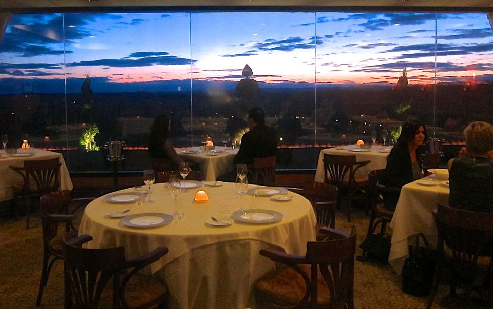 Sunset view at Restaurant Latour Crystal Springs in New Jersey