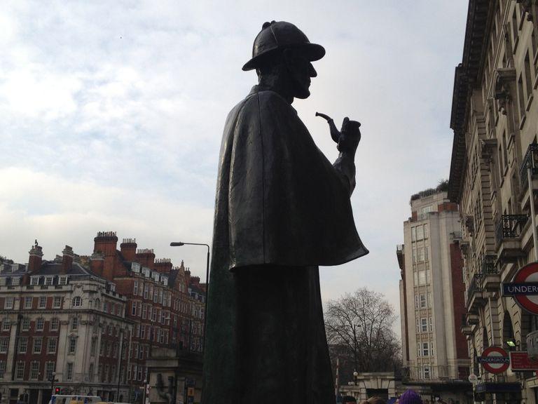 The Sherlock Statue in London