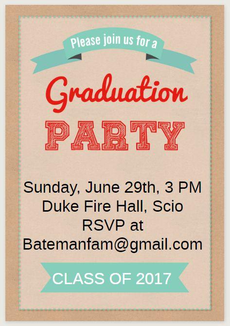 33 Free Printable Graduation Invitations Templates