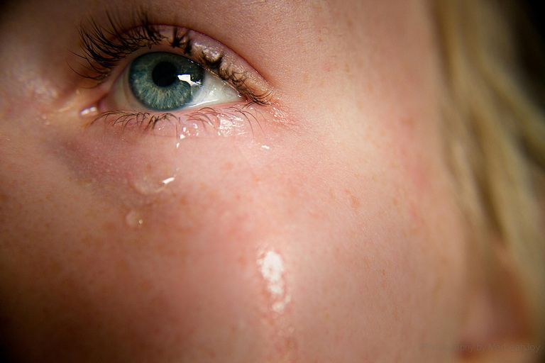 woman crying
