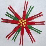 Clothespin Poinsettia