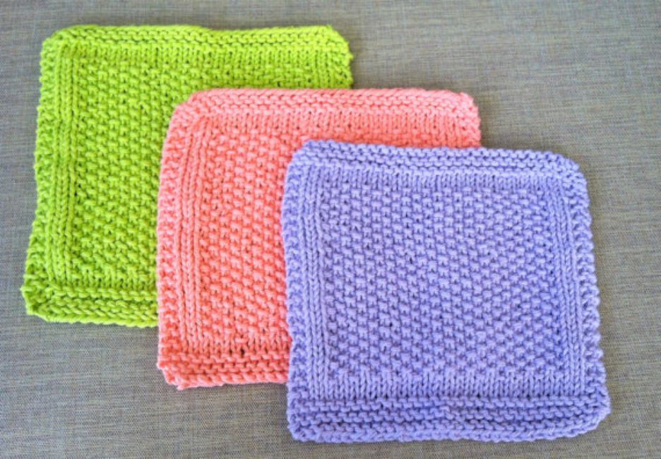 Knitted Dishcloth Patterns for Bread Bakers