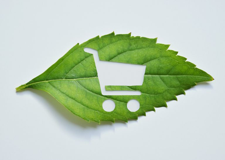 leaf with shopping cart