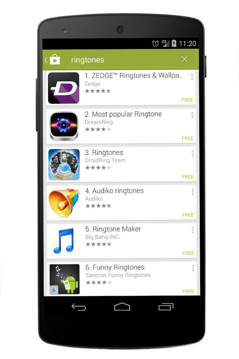 Google Play search on the Nexus 5