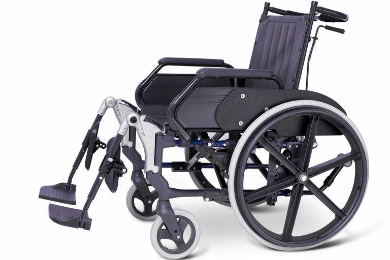 A hospital wheelchair.