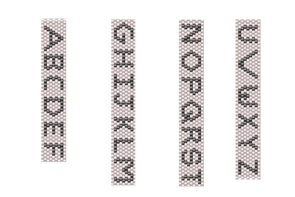 how to make beaded letters