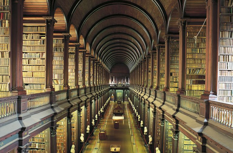 Library (18th century) of Trinity College, Dublin, Ireland