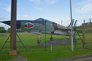At the Front Gat of RAF Croughton