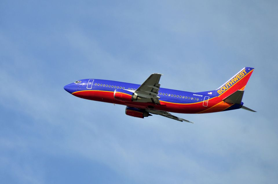 southwest in flight