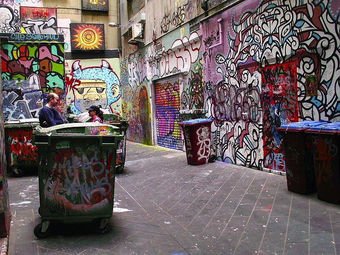 Melbourne Street Art Graffiti - Melbourne Alley and Art Graffitti