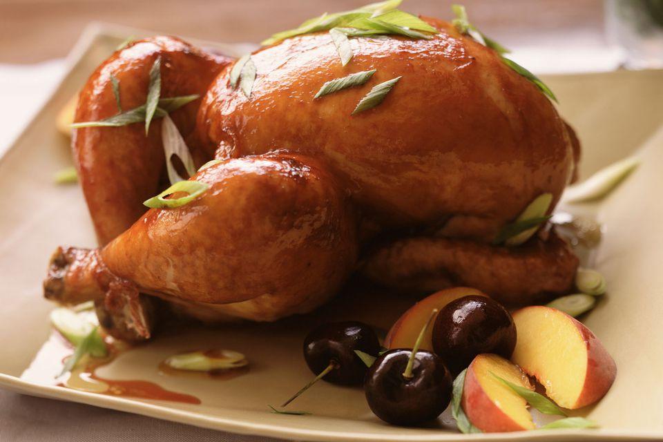 Honey glazed cornish hen