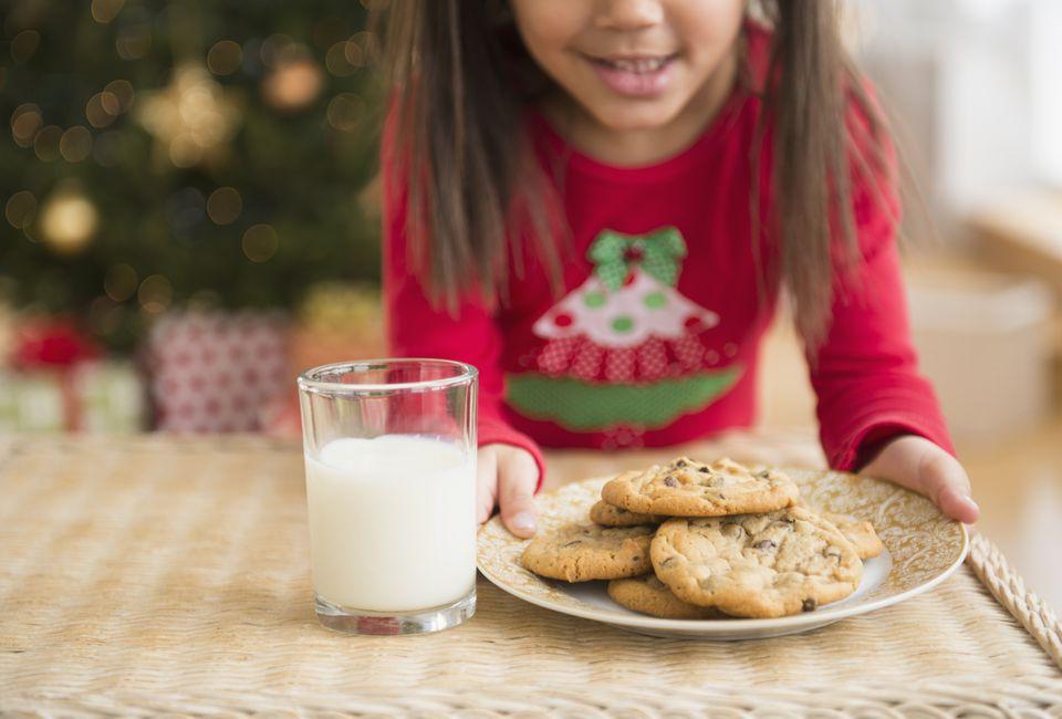 Leaving milk and cookies for santa