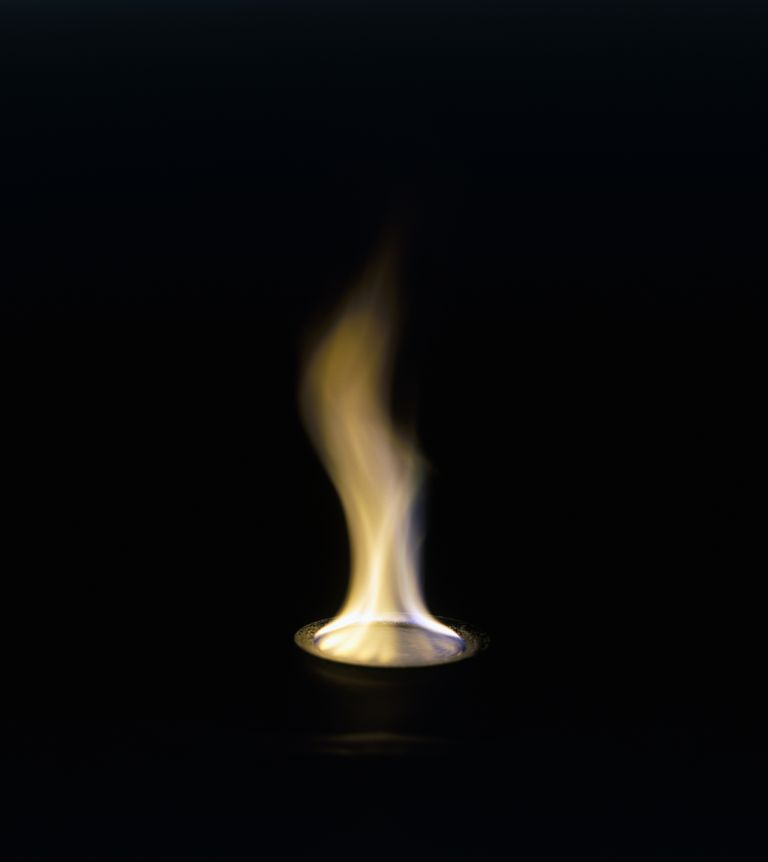 Sodium salts burn yellow in the flame test.