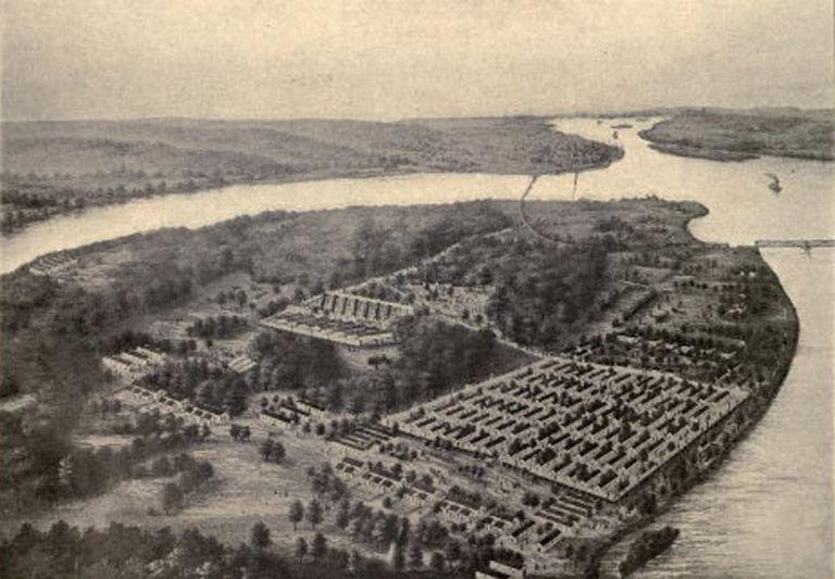 Rock Island Prison, Illinois. Union Civil War Prison Camp