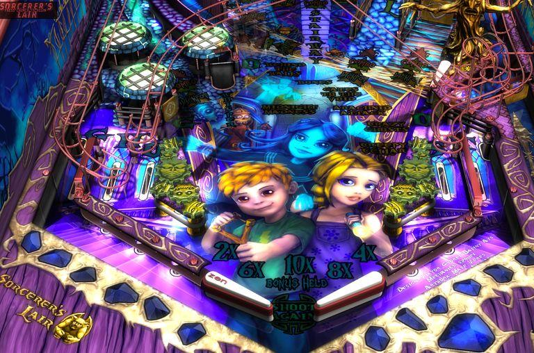 Sorcerer's Lair Pinball Table, part of Zen Pinball 2 game.