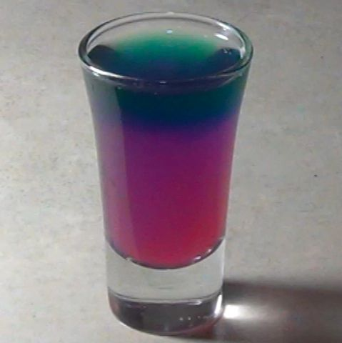 Cabbage juice displays a rainbow effect when you drip common household acids and bases into it.