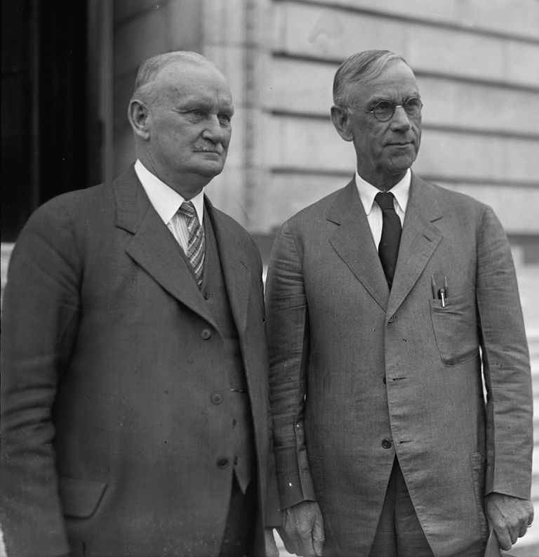 Smoot and Hawley standing together, April 11, 1929