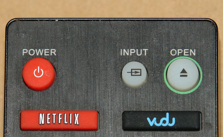 Netflix and Vudu Buttons On Remote Control