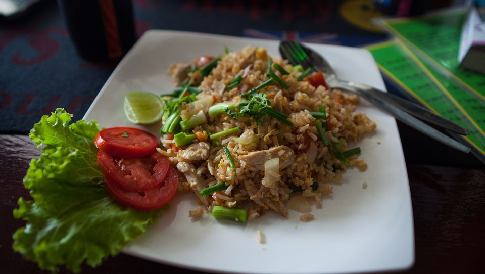 Thai Food - Fried rice and chicken