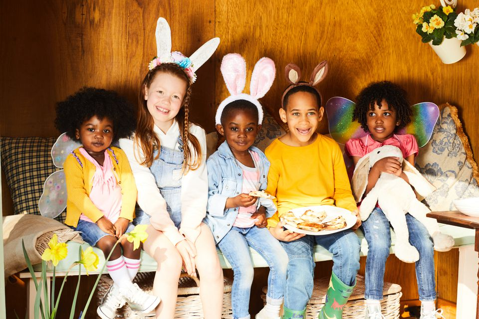 Children having Easter fun.